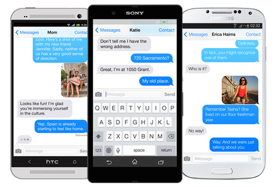 Download Free iMessage Chat For Android