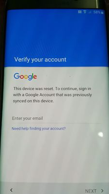 Bypass Verify Google account after resetting