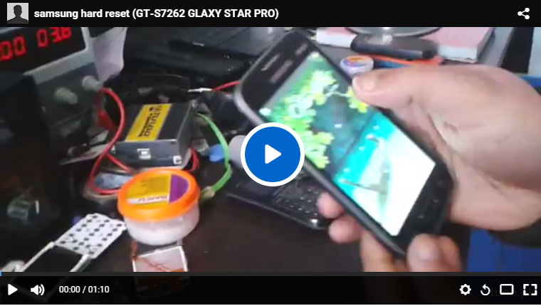 Samsung GLAXY STAR PRO S7262 How To Hard Reset