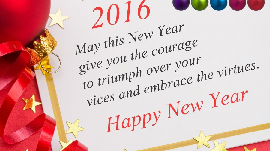 Happy New Year 2016 Greeting Cards Free Download