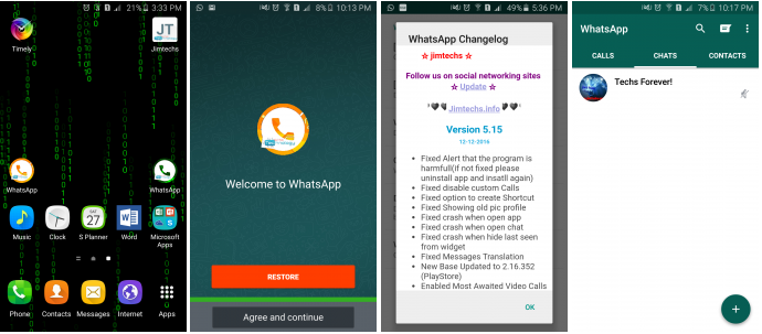Download WhatsApp Plus MODs v5.15 Editions