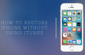 How to Restore iPhone Without Using iTunes