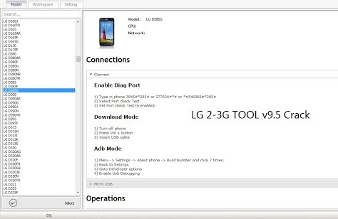 Download Z3X LG 2-3G Tool V9.5 With Loader 2021